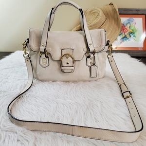 **Coach Campbell Ivory Leather Satchel